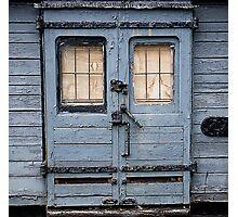 Weatherd train Door Photographic Print