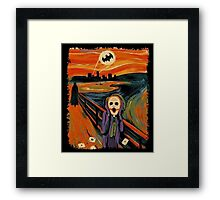 scream joker Framed Print