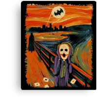 scream joker Canvas Print