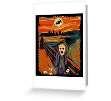 scream joker Greeting Card