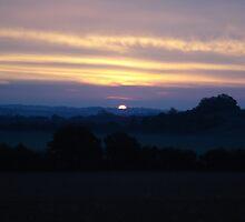 Sun set art by vincent ryan