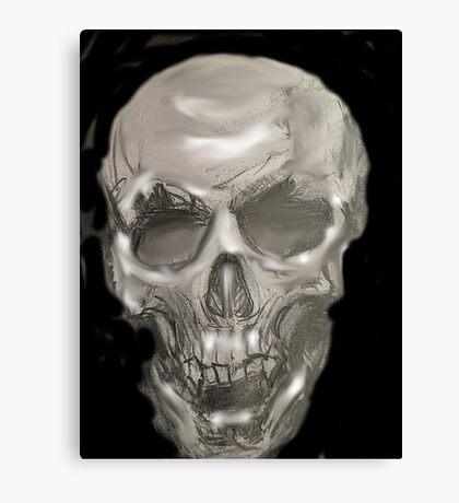 Black and white pencil skull 2 Canvas Print