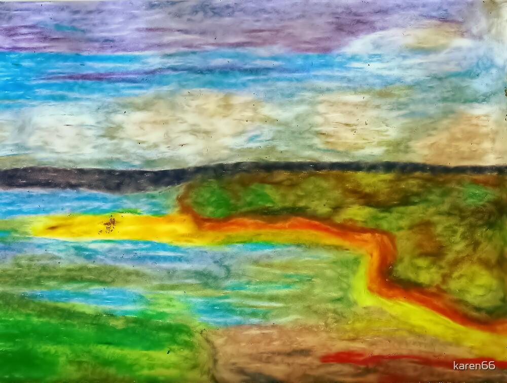 Tropical Coastline Pastel by karen66