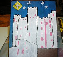 a castle at night time by angelgirl