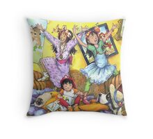 Sisters!!! - large  image Throw Pillow