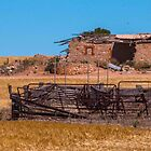 Crumbling outbuilding by indiafrank