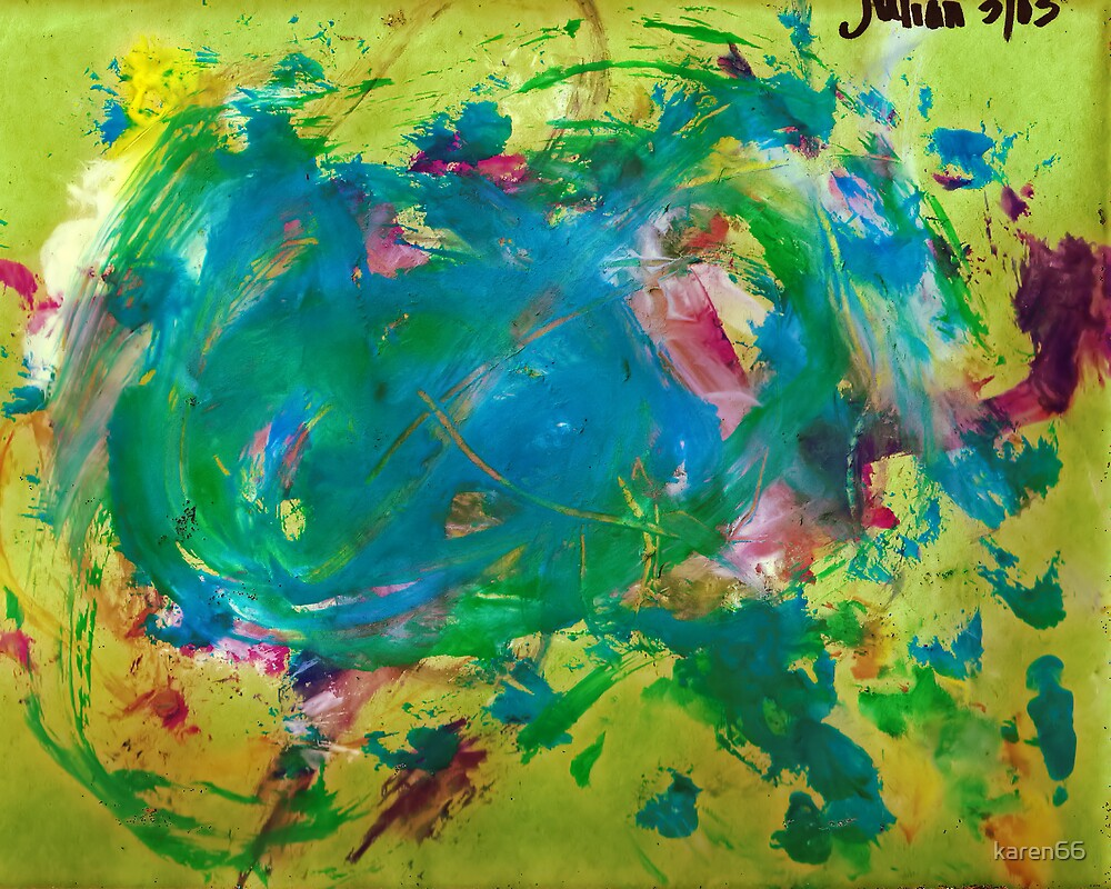 Julian's Green Abstract Age 3 by karen66