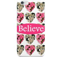 ROMANTIC WHITE AND PINK FLORAL BELIEVE DESIGN iPhone Case/Skin