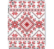 Red and Black Knitting Pattern 2 iPad Case/Skin