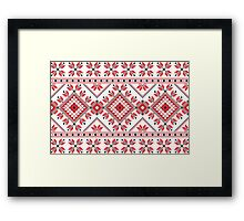 Red and Black Knitting Pattern 2 Framed Print