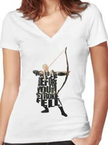 Legolas Women's Fitted V-Neck T-Shirt