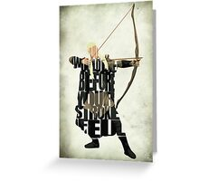 Legolas Greeting Card