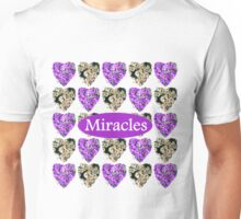 MIRACLES IN PURPLE AND WHITE FLOWERS Unisex T-Shirt