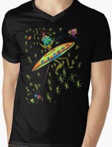 Alien Landing Mens V-Neck T-Shirt