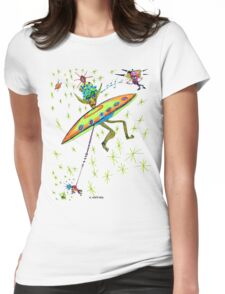 Alien Landing Womens Fitted T-Shirt