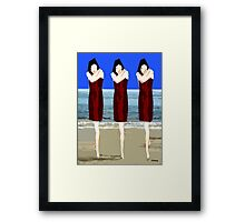 SWAYING TO THE SOUND Framed Print