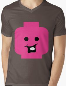 Cheeky Minifig Head Mens V-Neck T-Shirt