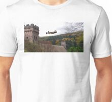 Lancaster VR-A at the Derwent Dam Unisex T-Shirt