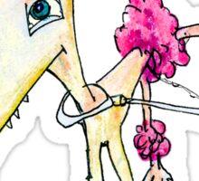 Pink Poodle Sticker