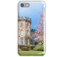 Cholmondeley Castle and Cherry Blossom iPhone Case/Skin
