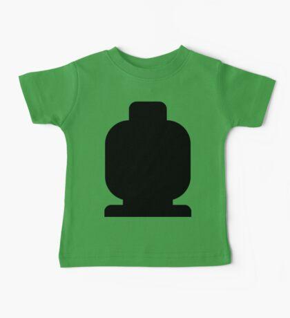 Black Minifig Head  Baby Tee