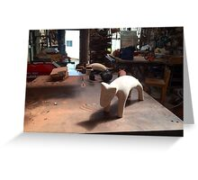 Andrew McPherson sculpture Greeting Card