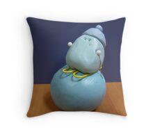 Office Art - The Skier Throw Pillow