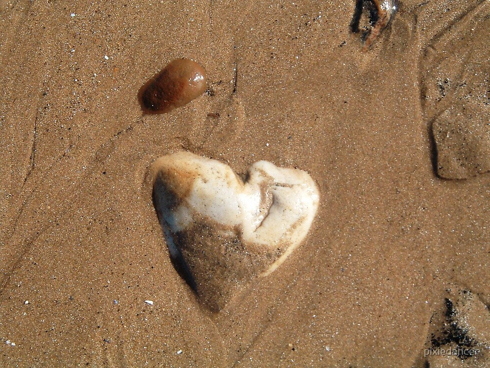 Heart Shaped Rock by pixiedancer