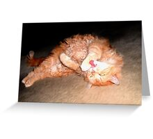 Ginger Cat Rolling Greeting Card