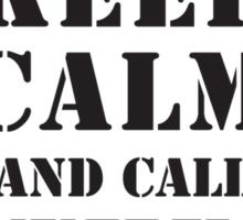 KEEP CALM AND CALL THE PARAS Sticker