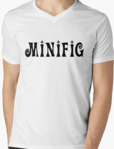 MINIFIG  Mens V-Neck T-Shirt