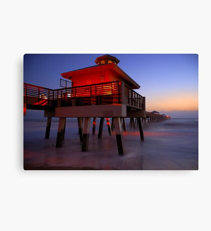 The Beach Lantern at Sunrise Canvas Print
