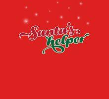 Santa's Helper. Womens Fitted T-Shirt