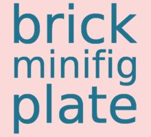 brick minifig plate Baby Tee