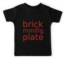 brick minifig plate  Kids Tee