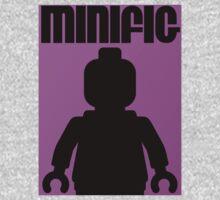 Retro Large Black Minifig One Piece - Short Sleeve