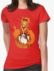 ALF Grumpy Cat  Womens Fitted T-Shirt