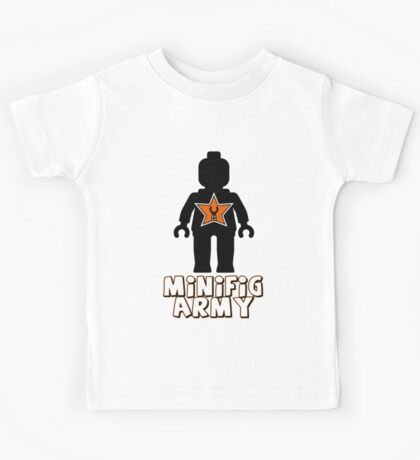 """""""MINIFIG ARMY"""" Minifig with Customize My Minifig Star Logo Kids Tee"""