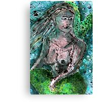Mermaid Monotype Canvas Print