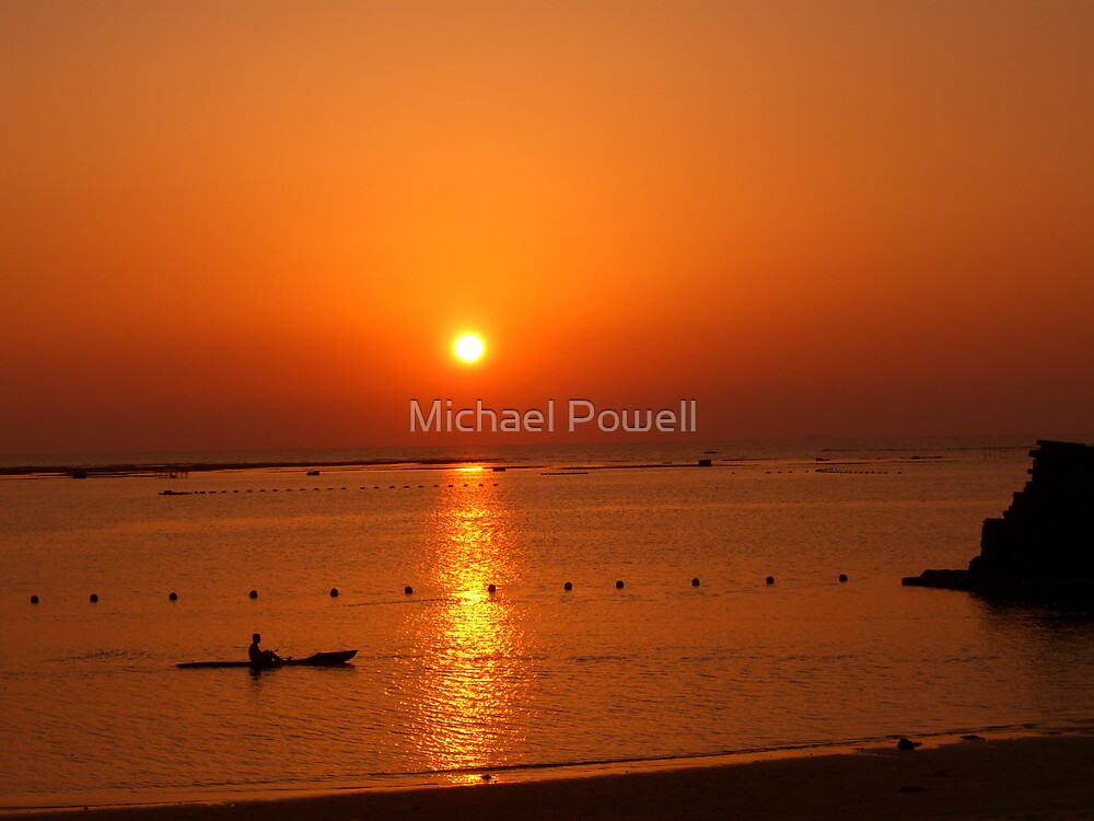Sunset on Araha by Michael Powell