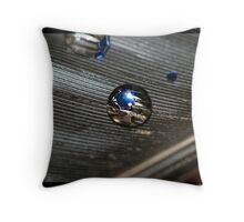 Blue Shining Through Throw Pillow