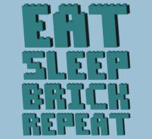 EAT, SLEEP, BRICK, REPEAT  Kids Tee