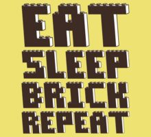 EAT, SLEEP, BRICK, REPEAT One Piece - Short Sleeve