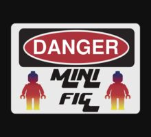 Danger Minifig Sign One Piece - Short Sleeve