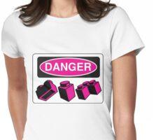 Danger Bricks Sign Womens Fitted T-Shirt