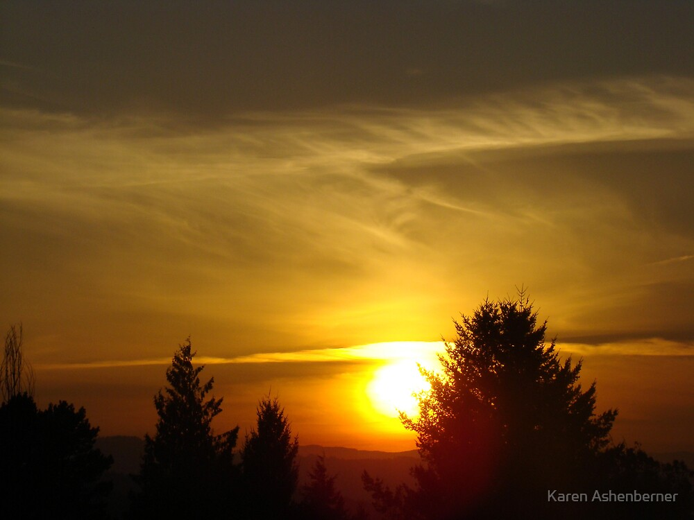 Fall Sunset by Karen Ashenberner