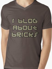 I BLOG ABOUT BRICKS Mens V-Neck T-Shirt