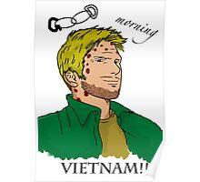 Lucifer Balck On White - Good Moring Vietnam Poster