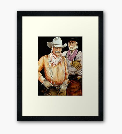 """""""Gus And Woodrow"""" Framed Print"""