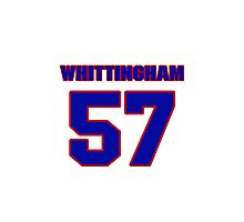 National football player Cary Whittingham jersey 57 Photographic Print